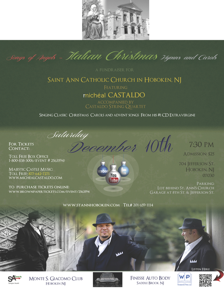 Micheal Castaldo @ Saint Ann Catholic Church - Hoboken, NJ