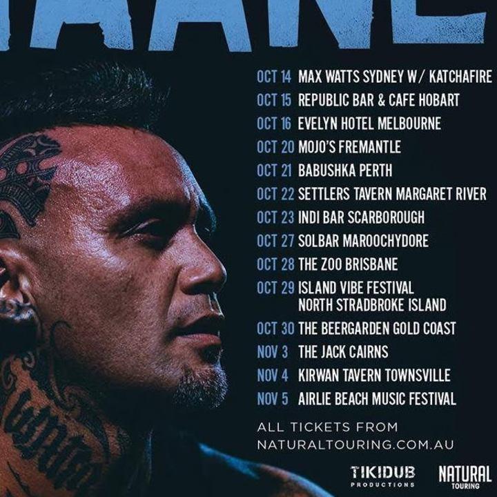 Tiki Taane Tikidub Productions Tour Dates