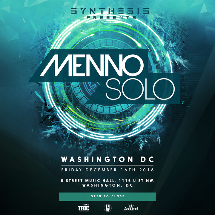 Menno de Jong @ U Street Music Hall - Washington, DC