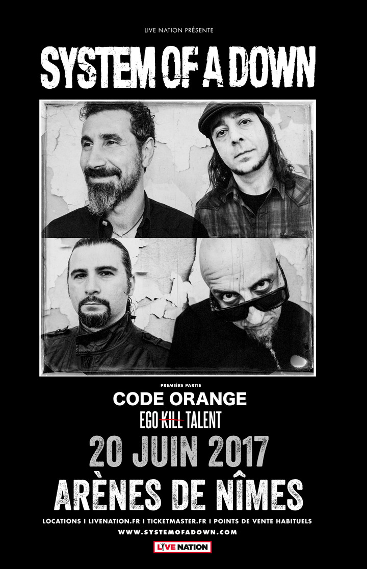 System of a Down @ Arena Nimes - Nimes, France