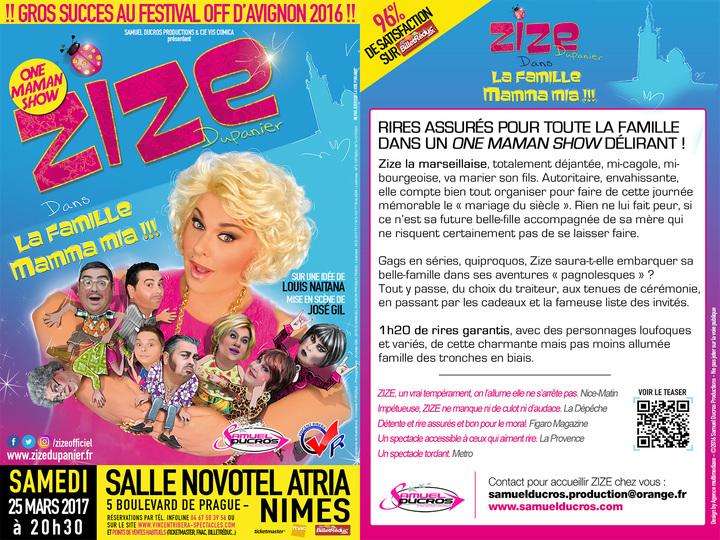 ZIZE Dupanier @ L'ATRIA - Nîmes, France