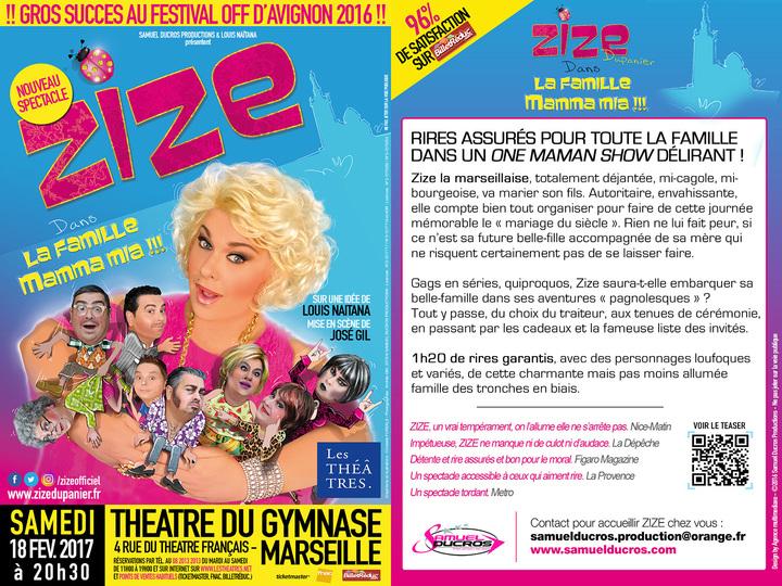 ZIZE Dupanier @ THÊATRE DU GYMNASE - Marseille, France