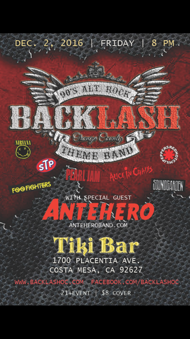 Backlashoc @ Tiki Bar - Costa Mesa, CA