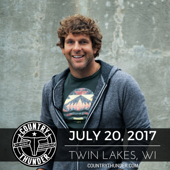 Billy Currington @ Country Thunder - Twin Lakes, WI