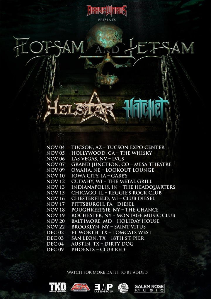 Hatchet (Official) @ Grizzly Hall w/ Flotsam & Jetsam, Helstar - Austin, TX