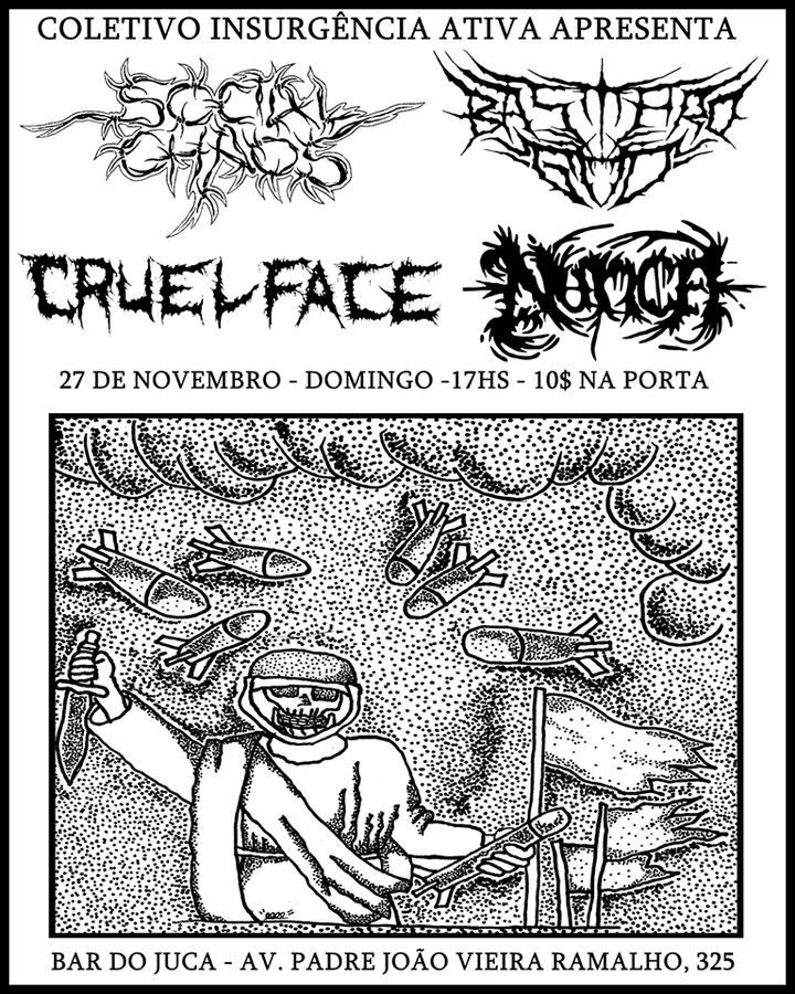 Cruel Face @ Bar do Juca - Mogi-Mirim, Brazil