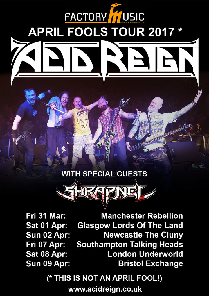 Acid Reign @ The Cluny - Newcastle Upon Tyne, United Kingdom