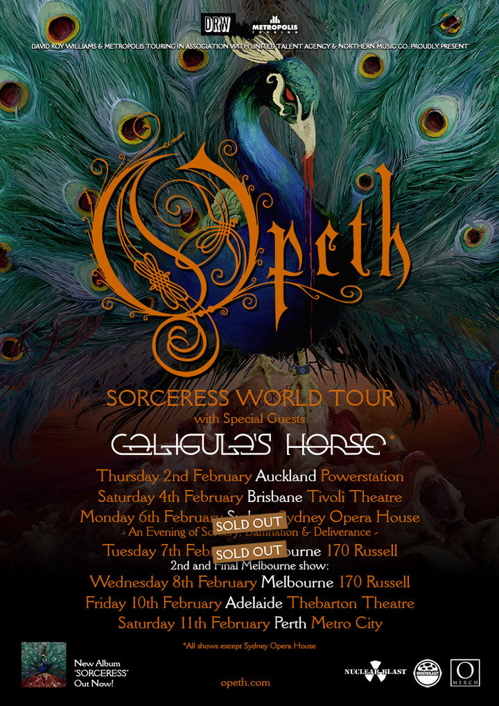 Opeth @ Thebarton Theatre - Adelaide, Australia