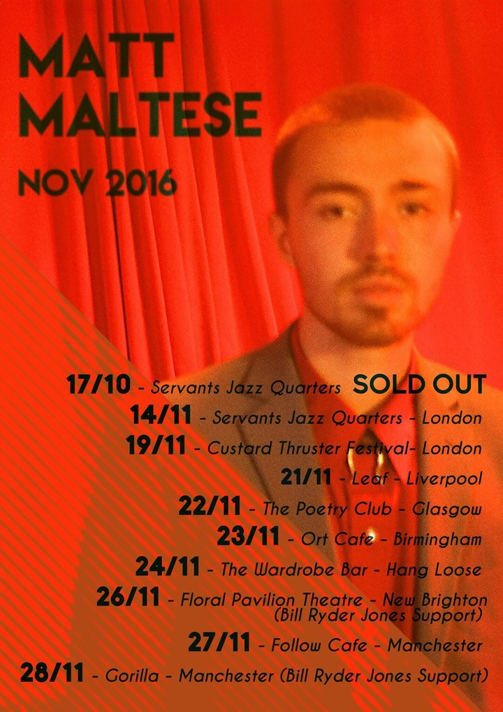 Matt Maltese @ Gorilla - Manchester, United Kingdom