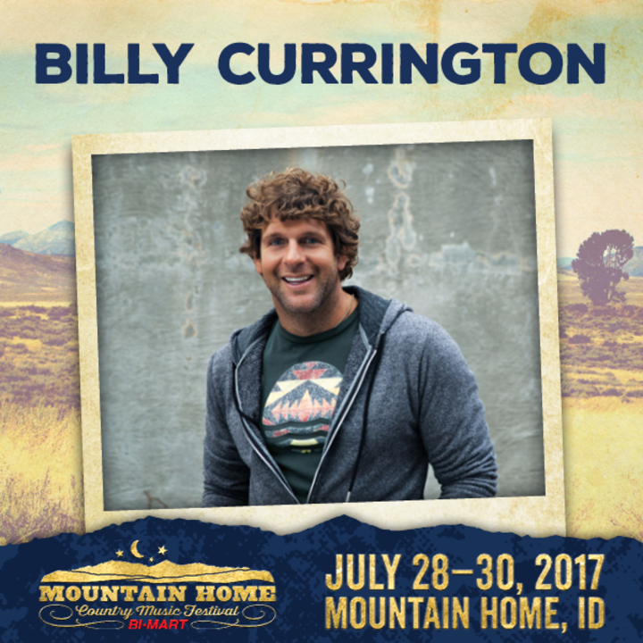 Billy Currington @ Mountain Home Country Music Festival - Mountain Home, ID