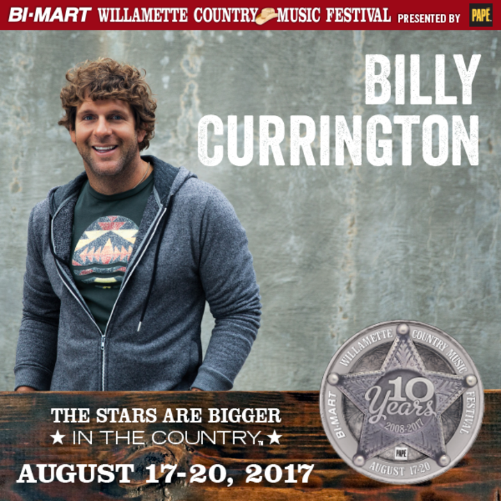 Billy Currington @ Bi-Mart Willamette Country Music Festival - Brownsville, OR