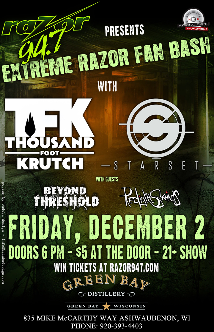 Thousand Foot Krutch @ Green Bay Distillery - Ashwaubenon, WI