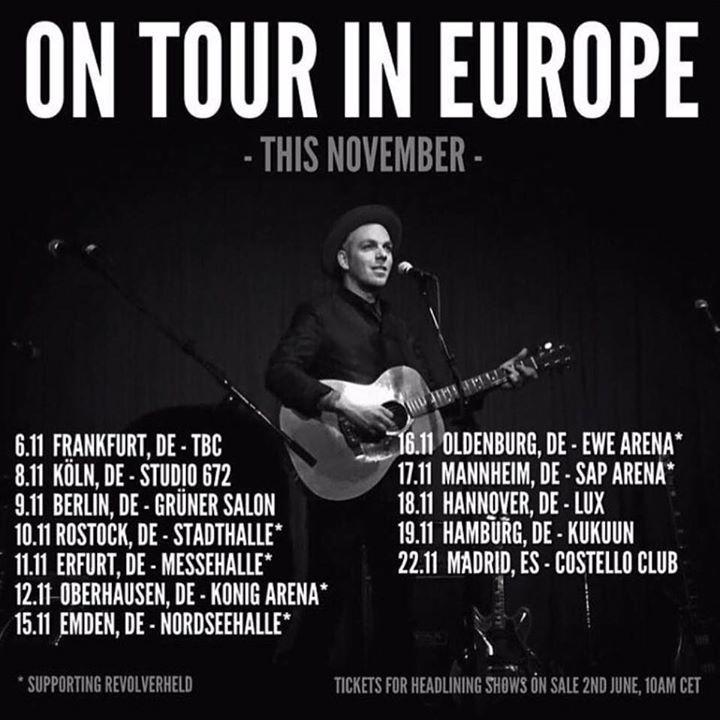 Greg Holden Tour Dates