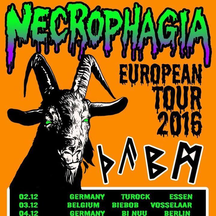 Necrophagia (official) Tour Dates