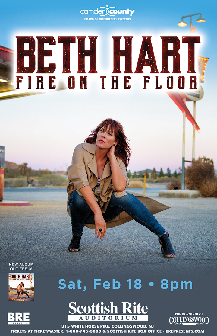 Beth Hart @ Scottish Rite Auditorium - Collingswood, NJ