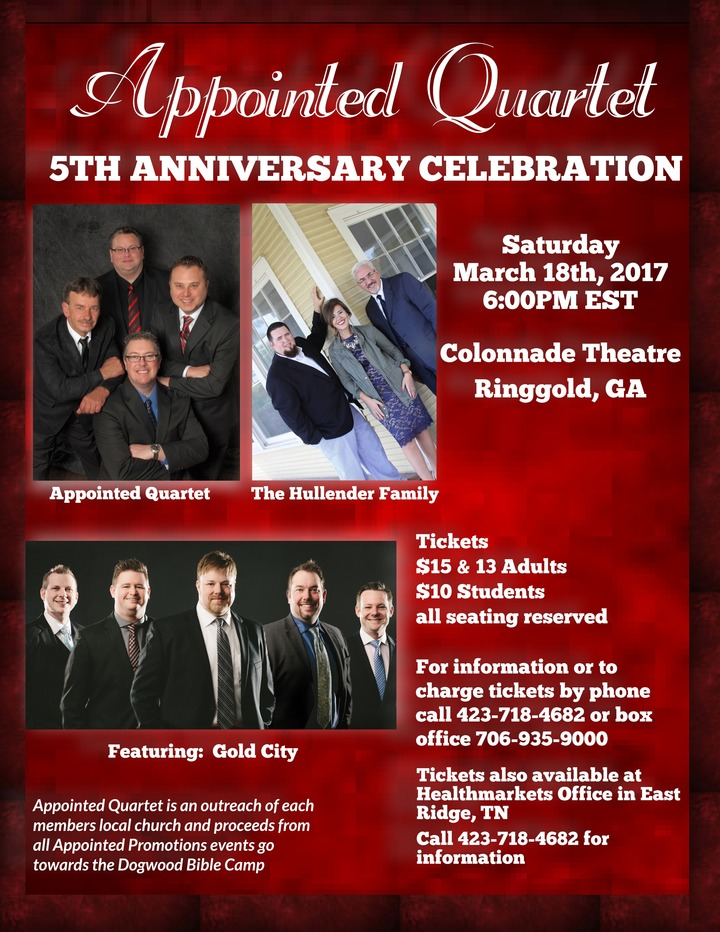 Appointed Quartet @ The Colonnade Theatre - Ringgold, GA