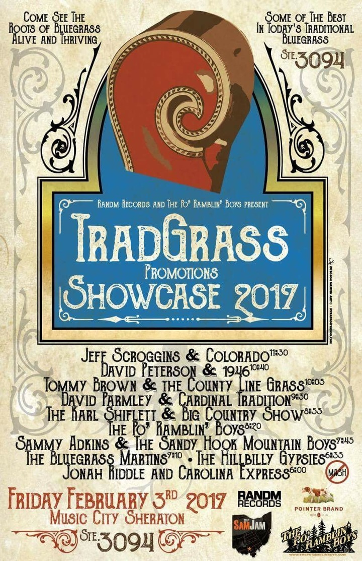 Tommy Brown and the County Line Grass @ SPBGMA TradGrass Show Case Room 3094 - Nashville, TN