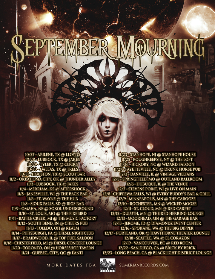 September Mourning @ Outland Ballroom - Springfield, MO