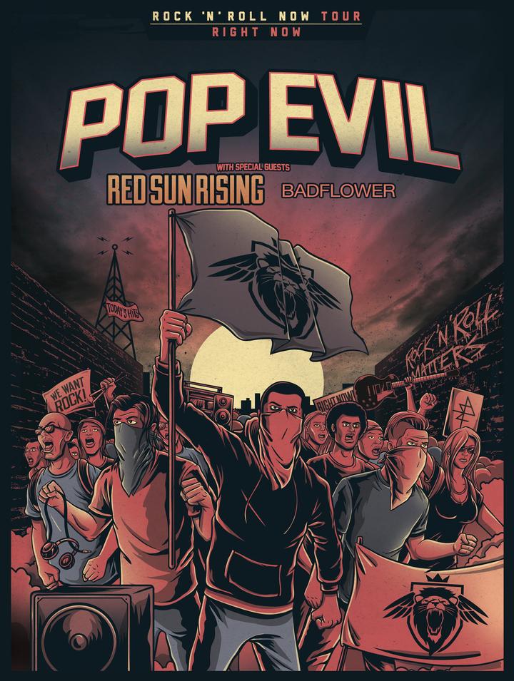 Pop Evil @ Tricky Falls - El Paso, TX