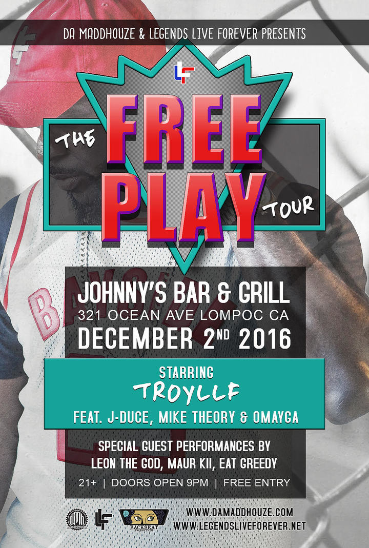 Troy of Legends Live Forever @ Johnnys Bar & Grill  - Lompoc, CA