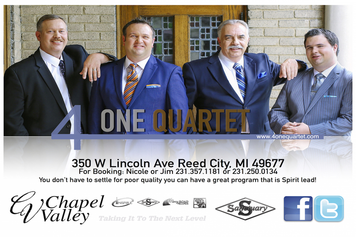4 One Quartet @ Wesley Chapel United Methodist Church  - Mount Pleasant, IA