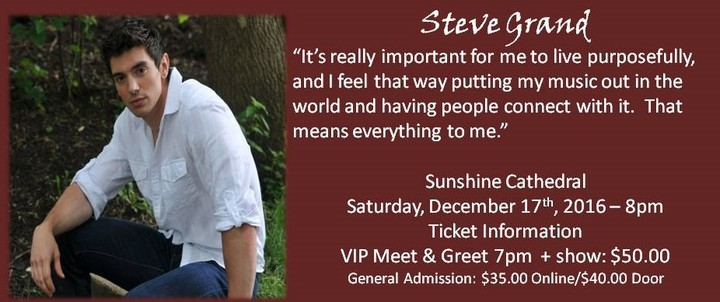 Steve Grand @ Sunshine Cathedral - Fort Lauderdale, FL