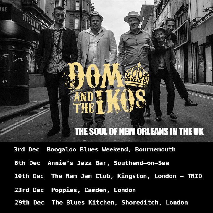 Dom Pipkin and The Iko's @ Annie's Jazz  - Southend-On-Sea, United Kingdom