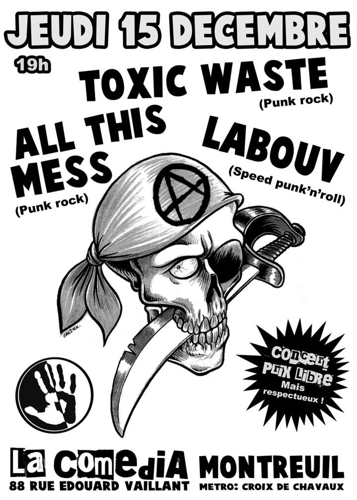 Toxic Waste @ La Comedia à Montreuil (93) - Paris, France