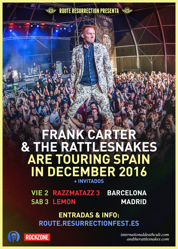 Frank Carter & The Rattlesnakes @ Lemon - Madrid, Spain