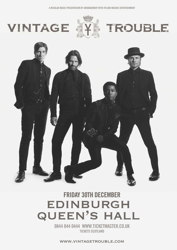 VINTAGE TROUBLE @ Queens Hall - Edinburgh, United Kingdom