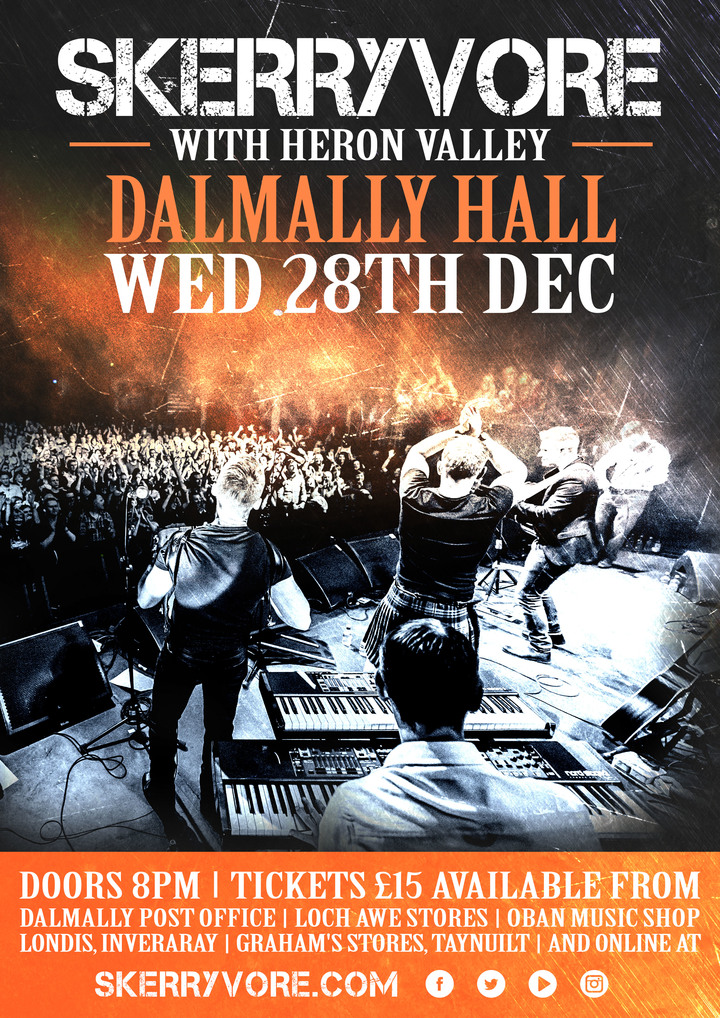 SKERRYVORE @ Dalmally Hall - Dalmally, United Kingdom
