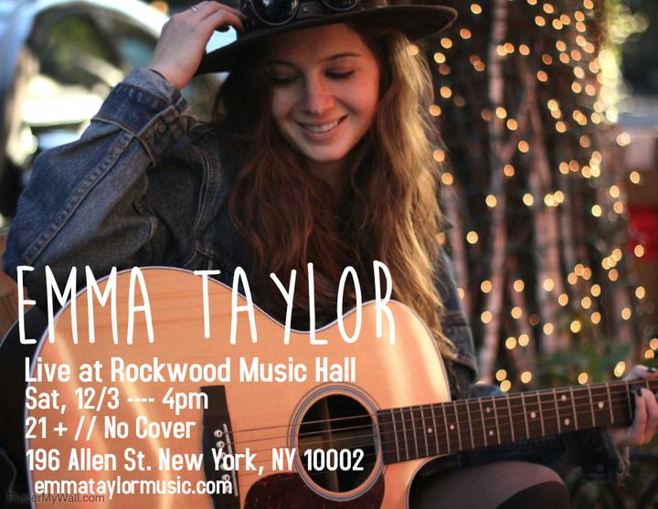 Emma Taylor @ Rockwood Music Hall - New York, NY