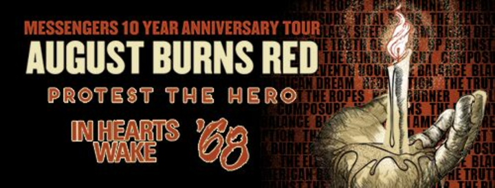 August Burns Red @ Lonestar Event Center - Lubbock, TX