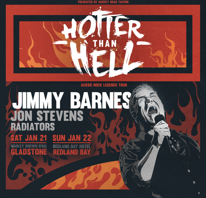 Jimmy Barnes - Official @ Hotter Than Hell - Harvey Road Tavern - Clinton, Australia