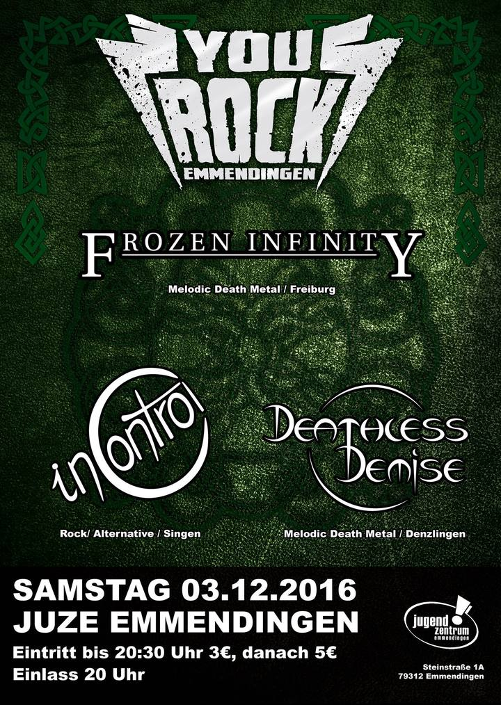 Frozen Infinity @ Jugendzentrum - Emmendingen, Germany
