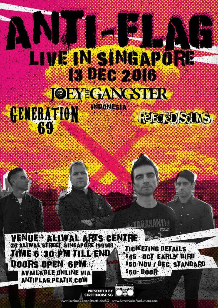 Anti-Flag @ Aliwal Arts Centre - Singapore, Singapore