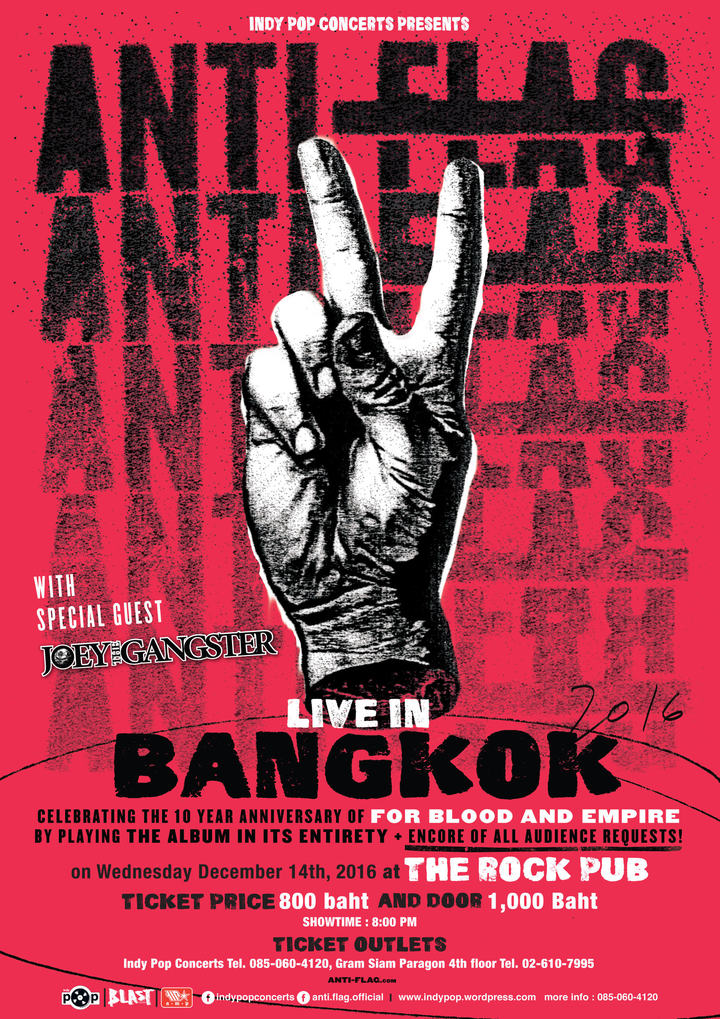 Anti-Flag @ The Rock Pub - Bankok, Thailand