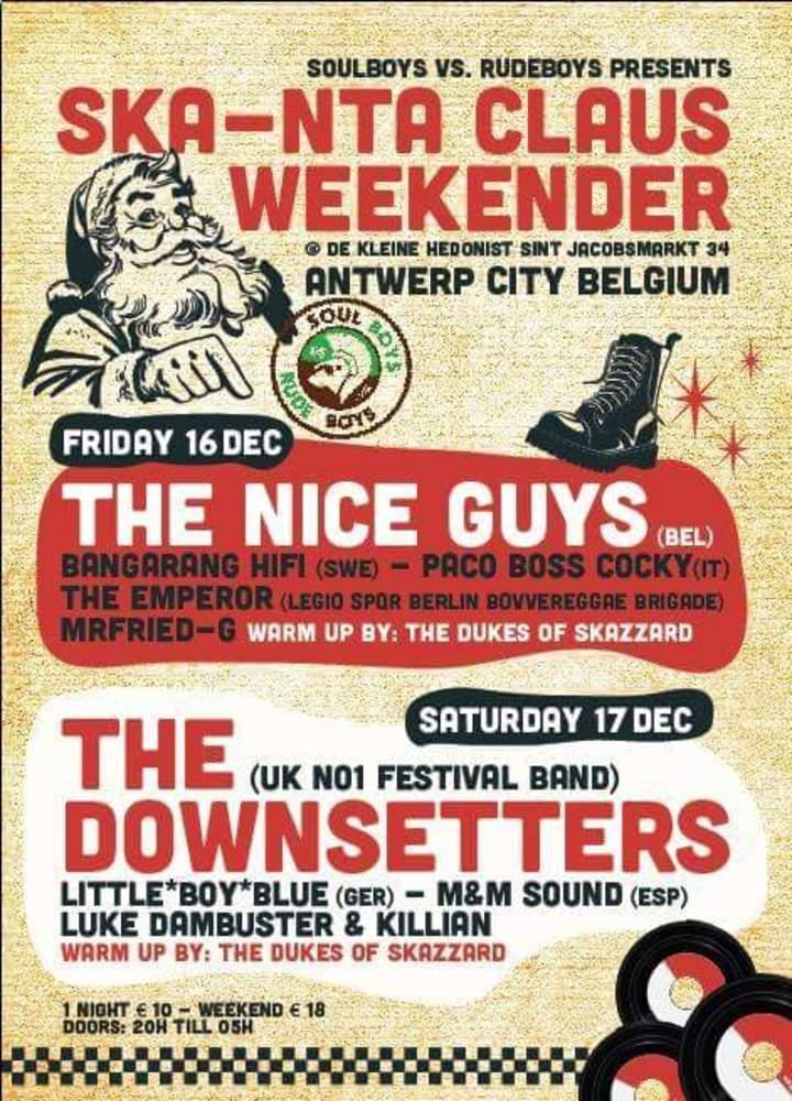 The Downsetters @ Skanta-claus Weekender  - Antwerp, Belgium