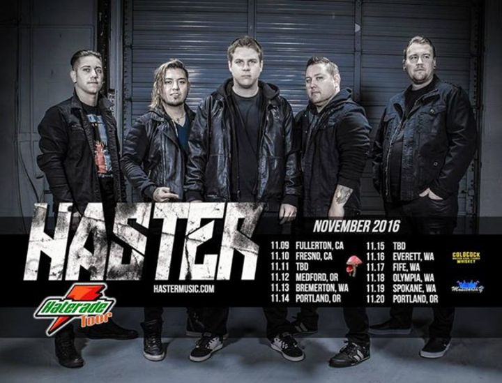 Haster Tour Dates