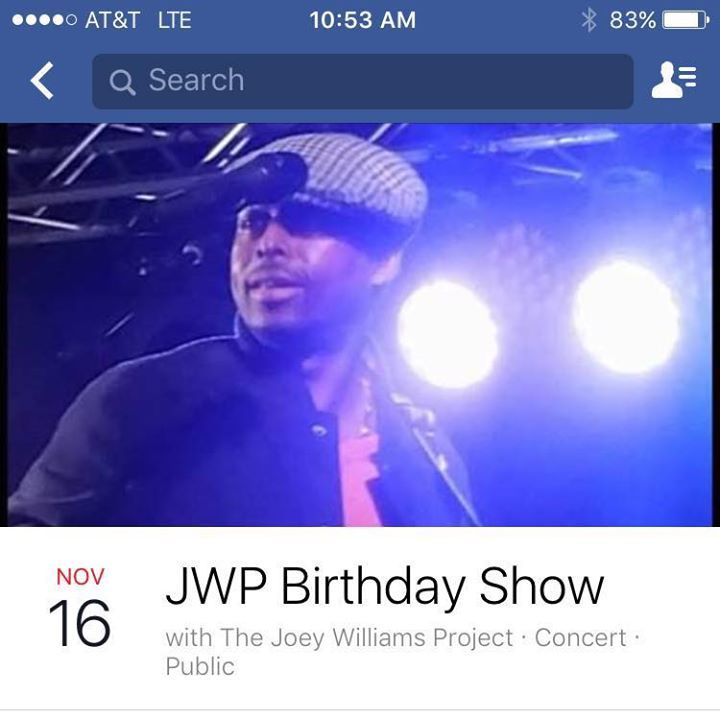 The Joey Williams Project Tour Dates