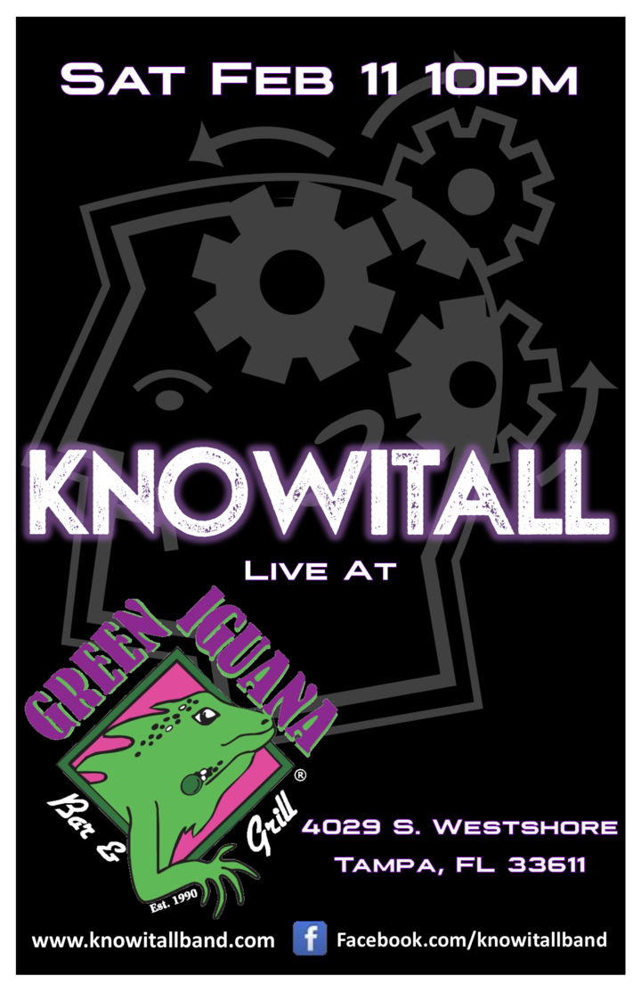 KnowItAll @ Green Iguana - West Shore - Tampa, FL
