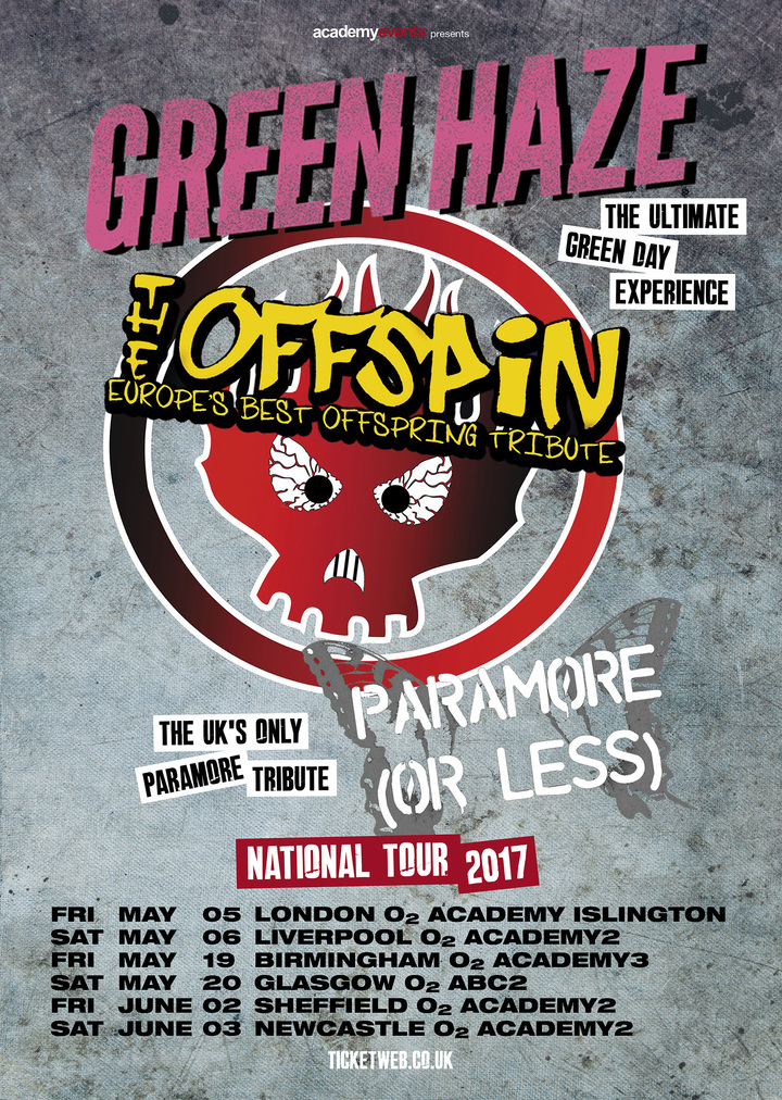 The Offspin, The Offspring Tribute Band @ O2  Academy  Newcastle - Newcastle, United Kingdom