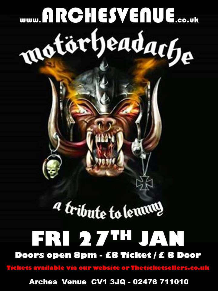 Motorheadache UK @ The Arches - Coventry, United Kingdom