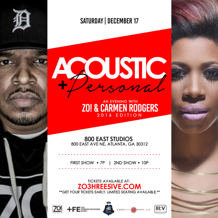 Zo! @ 800 East Studios - Atlanta, GA