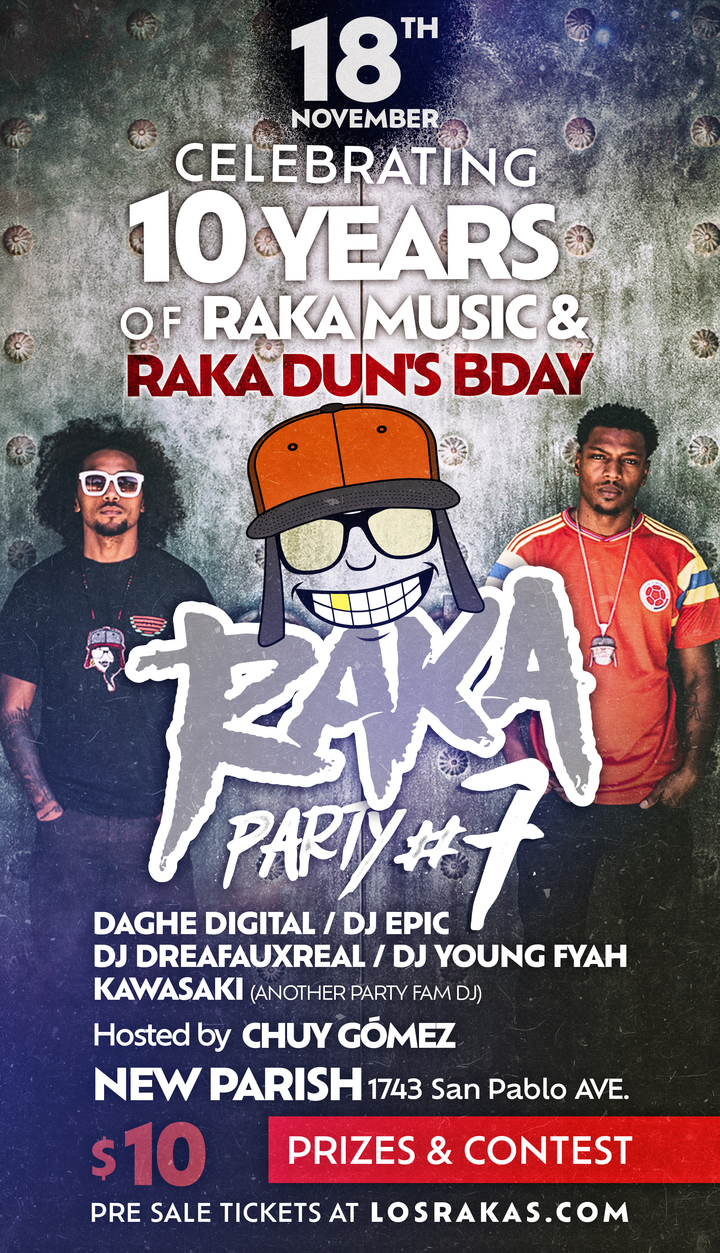 Los Rakas @ new parish  - Oakland, CA