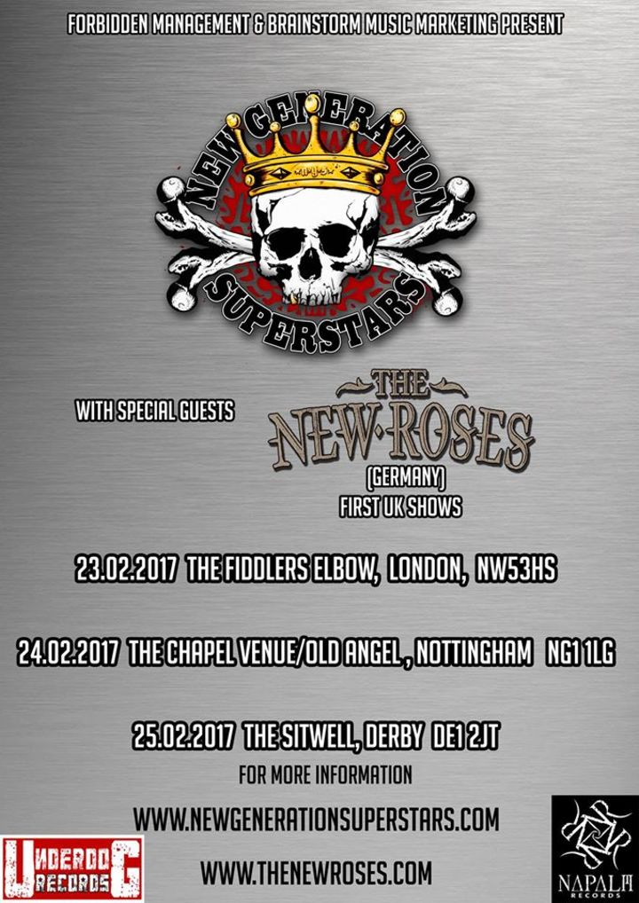 The New Roses @ The Sitwell - Derby, United Kingdom