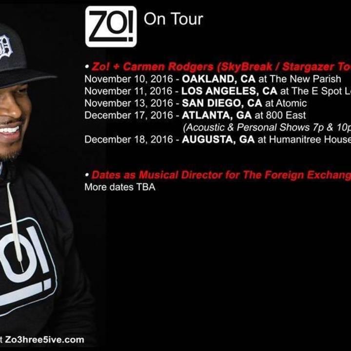 Zo! Tour Dates