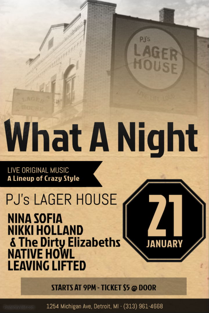 Nikki Holland Music @ PJ's Lager House - Detroit, MI