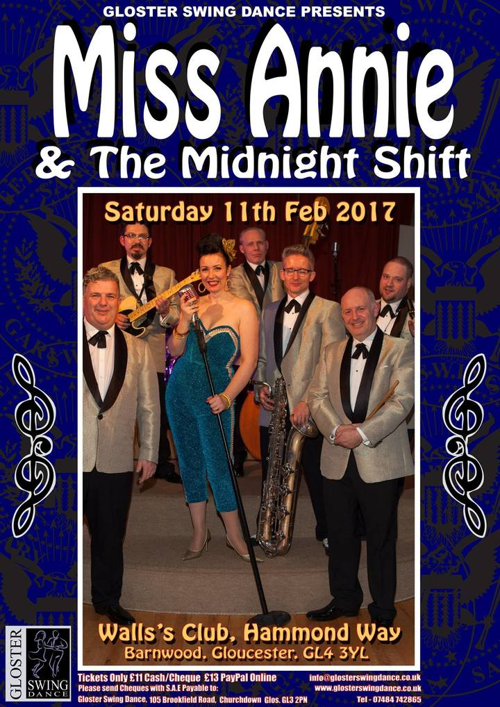 Miss Annie & The Midnight Shift @ Walls Club - Gloucester, United Kingdom
