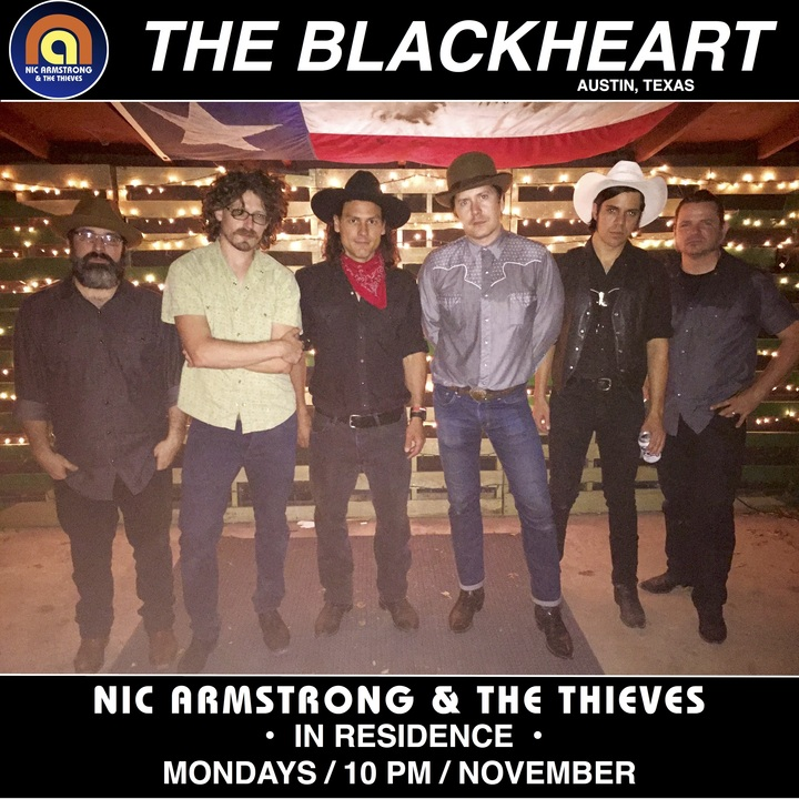 Nic Armstrong & The Thieves @ The Blackheart - Austin, TX